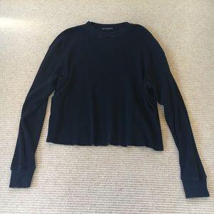 brandy navy long sleeve sweater